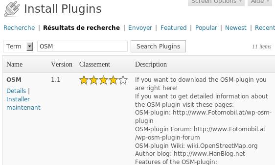 OSM Plugin install