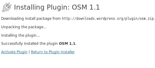 OSM installing plugin