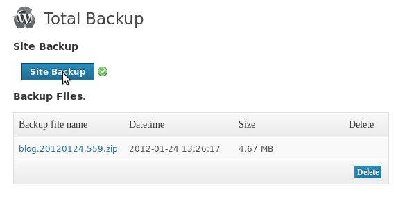 WordPress Total Backup